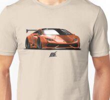 naquash design lamborghini huracan - orange and black top  Unisex T-Shirt