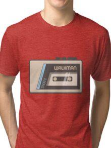 Retro Walkman Music Player 80s Electronics Tri-blend T-Shirt