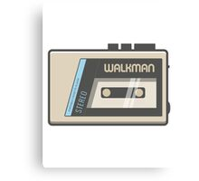 Retro Walkman Music Player 80s Electronics Canvas Print