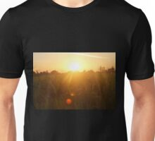 Sunset in Indian farm Unisex T-Shirt