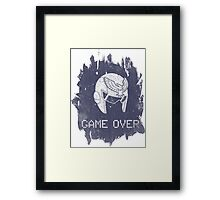 Game Over Captain Falcon Framed Print