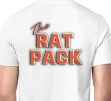 The Rat Pack, Singers, Music, Crooners, Frank Sinatra, Sammy Davis, Dean Martin. STACK, on White Unisex T-Shirt