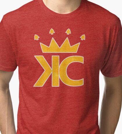 ARROW CROWN Chiefs Gold Tri-blend T-Shirt