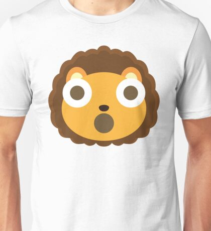 Cute Lion Emoji Shocked and Surprised Look Unisex T-Shirt