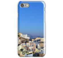 Turists watching the susnet in Santorini, Greece iPhone Case/Skin