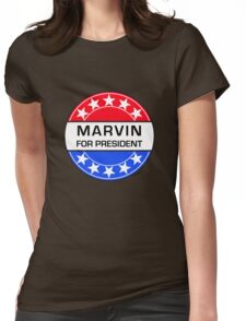 MARVIN FOR PRESIDENT Womens Fitted T-Shirt