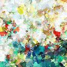 Spring Abstract Art by Deniz Akerman