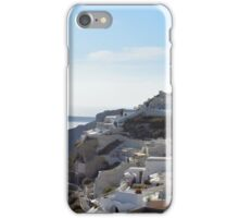 1 October 2016 White architecture at sunset in Santorini, Greece iPhone Case/Skin
