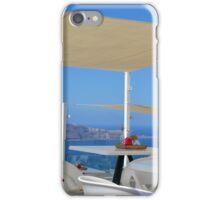 Reastaurant in Santorini, Greece iPhone Case/Skin