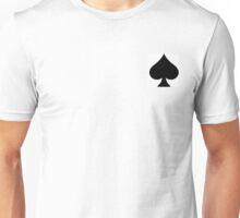 Spade Black On White Simple Unisex T-Shirt