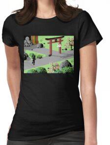 The Last Ninja Scenery Womens Fitted T-Shirt