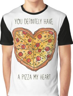 Heart pizza Graphic T-Shirt