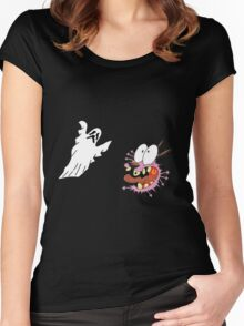 cowardly dog Women's Fitted Scoop T-Shirt