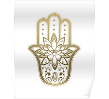 Hamsa Lotus Flower Three  Poster