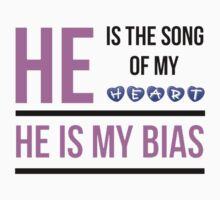HE IS MY BIAS - PURPLE Kids Clothes