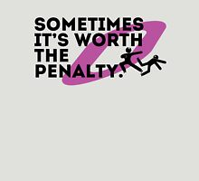 Sometimes it's worth the penalty (black) Womens Fitted T-Shirt