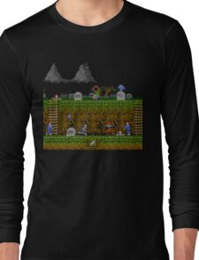 Ghosts and Goblins Scenery Long Sleeve T-Shirt