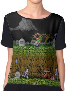 Ghosts and Goblins Scenery Chiffon Top
