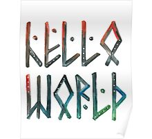 Hello world resy Poster