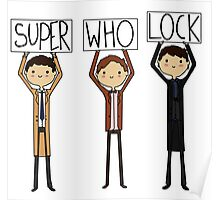 SuperwhoLock Signs Poster