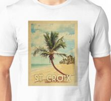 St. Croix Vintage Travel T-shirt - Beach Unisex T-Shirt