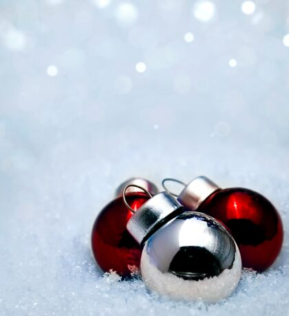 Christmas balls on snow Sticker