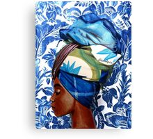 The lady in turban Canvas Print