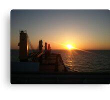 Sunset at sea 01 Canvas Print