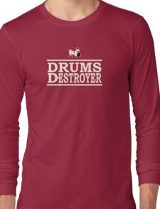 Drums Destroyer white color Long Sleeve T-Shirt
