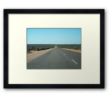 The Great Open Road Framed Print