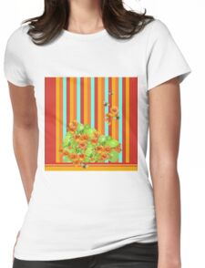 Nasturtiums and Bees Womens Fitted T-Shirt