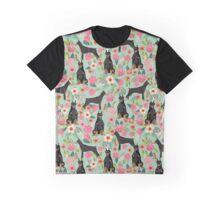 Doberman Pinscher florals perfect gift for doberman owner dog breed art print custom pet friendly designs Graphic T-Shirt