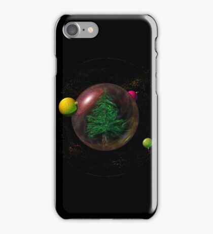Christmas tree in space iPhone Case/Skin