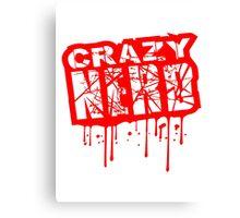 blut graffiti tropfen risse kratzer nerd geek schlau freak banner schriftzug elegant text schrift logo design cool crazy verrückt verwirrt blöd dumm komisch gestört  Canvas Print