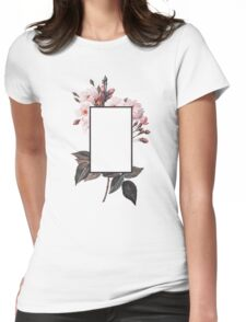 Floral Rectangle Logo Womens Fitted T-Shirt