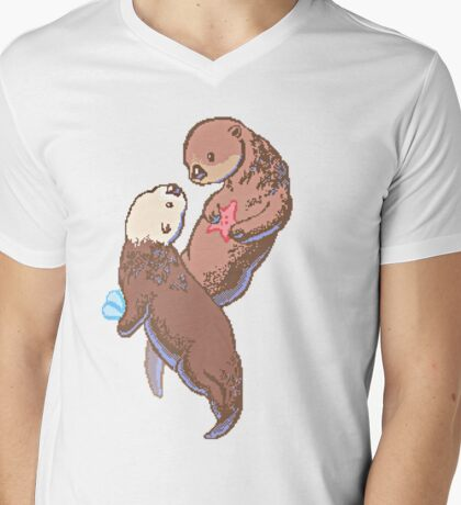 Otterly in love Mens V-Neck T-Shirt