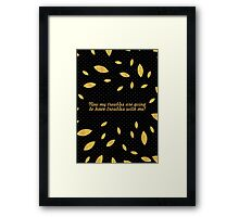 "Now my troubles... ""Dr. Seuss"" Inspirational Quote (Creative) Framed Print"