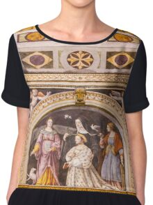 Church of Santa Maria delle Grazie in Milan, Italy Chiffon Top