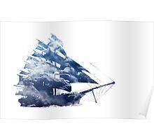 cloud sailing ship Poster