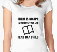 App Replace Lap Read To Child Women's Fitted Scoop T-Shirt