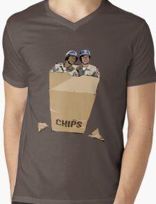 CHIPS Mens V-Neck T-Shirt
