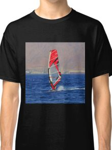 Windsurfing in a red sea Classic T-Shirt