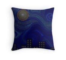 Dashed Night Throw Pillow