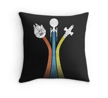 Sci-fi ships Throw Pillow