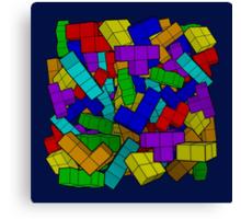 Tetris Pile Canvas Print