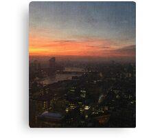 London Sunset Oil Painting Canvas Print