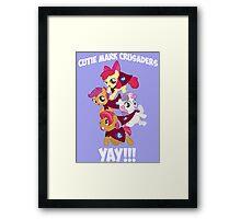 Cutie Mark Crusaders - YAY!!! Framed Print