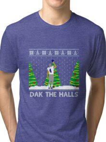 """Dak the Halls"" Shirt perfect for Christmas! Tri-blend T-Shirt"