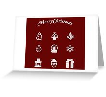Christmas symbols in white Greeting Card