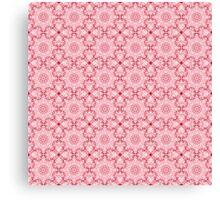 "501. ""Spirit of India: Fleur-SnowFlake"" in rose Canvas Print"